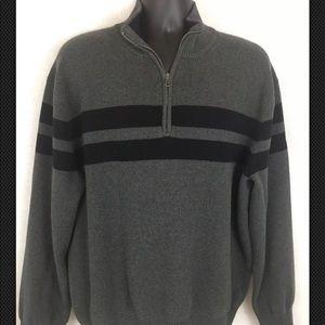 Tommy Hilfiger Gray black Striped Sweater XXL